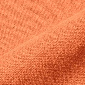 Mandra - Orange (19) - Light, bright coral coloured linen and polyester blend fabric