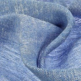 Chunga - Blue - Cobalt blue coloured thin fabric woven entirely from linen