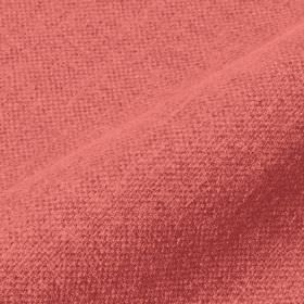Mandra - Coral - Rose pink coloured linen and polyester blend fabric