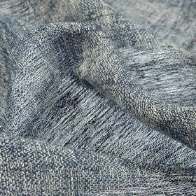 Chunga - Navy (17) - Fabric woven from white and navy blue coloured 100% linen threads