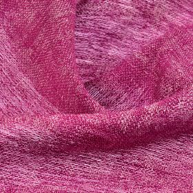 Chunga - Fuchsia - Thin, loosely woven, dark pink-purple coloured 100% linen fabric