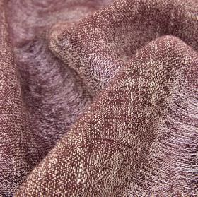 Chunga - Burgundy - Brown-grey and white coloured threads woven into a fabric made entirely from linen
