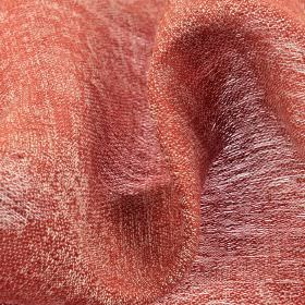 Chunga - Red (23) - Fabric made entirely from linen using a blend of white and dusky red coloured threads