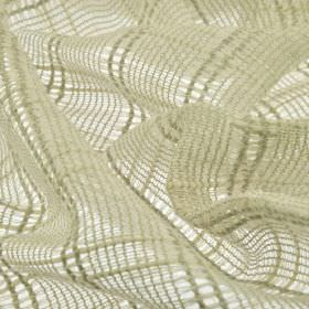 Manuk - Beige - Fabric woven from linen and polyester blend threads in a very pale shade of grey