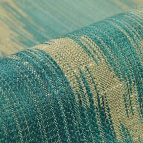 Nila - Blue - Fabric made from cotton, linen, polyester and viscose, featuring patchy areas of white and powder blue colours