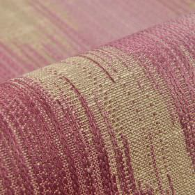 Nila - Pink - Patches in pale shades of grey and lavender covering cotton, linen, polyester and viscose blend fabric
