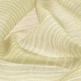 Karang - Cream Beige (1) - Pairs of very simple, thin, pale grey lines arranged neatly over off-white coloured linen and polyester blend fab