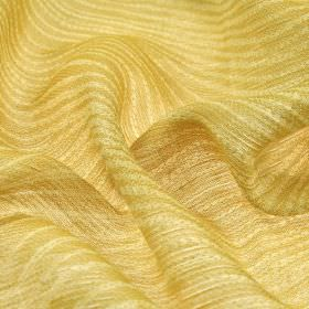 Karang - Gold (2) - Linen and polyester blend fabric featuring pairs of very thin, simple, subtle lines in cream and light gold colours