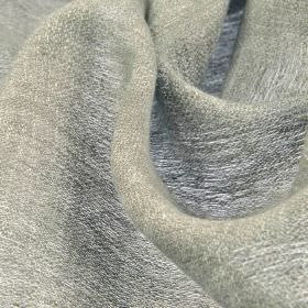 Chunga - Grey (7) - Fabric woven from 100% linen threads in white and light grey colours