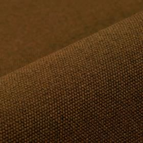 Samba - Chocolate - Warm nut brown coloured cotton and viscose blend fabric featuring a very slight light grey hint