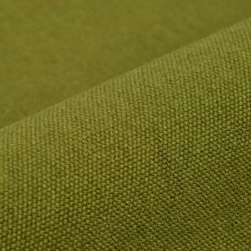 Samba - Olive Green - Fabric woven with a 75% cotton and 25% viscose content in a plain shade of grass green