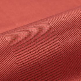 Vogue CS - Rood - Two similar shades of dusky red making up a very subtle diagonal line pattern on slightly shiny 100% Trevira CS fabric