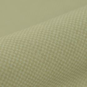 Twin FR - Crème and Beige (1) - A very small simple grey-beige coloured grid design printed on an off-white coloured 100% polyester FR fabric