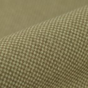Twin FR - Beige Bruin (3) - 100% polyester FR fabric featuring a small, simple grid pattern in off-white and dark grey-brown colours
