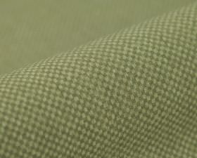 Twin FR - Crème Groen (4) - Green-grey and pale grey-white coloured 100% polyester FR fabric featuring a very small, simple grid pattern