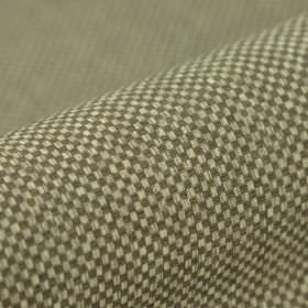 Twin FR - Beige Bruin (6) - Fabric made from 100% polyester FR, featuring a miniscule dark grey and pale grey-white checkerboard pattern