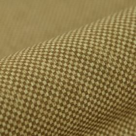 Twin FR - Bruin (7) - Miniscule dark grey and cream coloured checkerboard patterns covering fabric made from 100% polyester FR