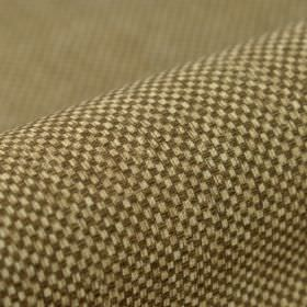 Twin FR - Bruin- (8) - Fabric made from tiny checkerboard patterned 100% polyester FR in dark brown and off-white colours