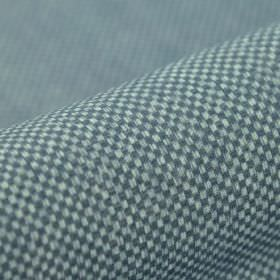 Twin FR - Blauw (10) - A miniscule checkerboard pattern covering fabric made from 100% polyester FR in two different shades of blue