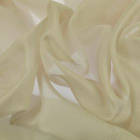 Pisa - Cream - Ivory coloured translucent fabric made from 100% Trevira CS