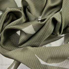 Pisa - Grey Green (3) - Very subtly patterned fabric made from 100% Trevira CS in a steely grey colour