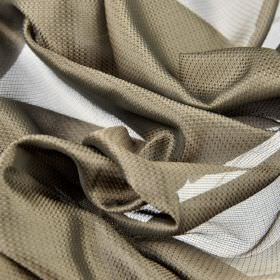 Pisa - Brown Gold (4) - Fabric made from 100% Trevira CS with a very subtle pattern and a translucent finish