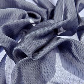 Pisa - Violet - Subtly patterned, slightly translucent silver-blue coloured 100% Trevira CS fabric