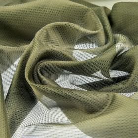 Pisa - Brown Grey (8) - A very subtle pattern covering translucent light grey coloured fabric made entirely from Trevira CS