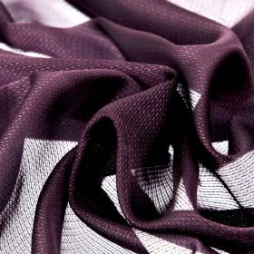 Pisa - Purple - Very subtly patterned dark purple and white coloured 100% Trevira CS fabric