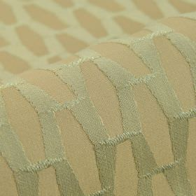 Grid CS - Beige (6) - Very pale shades of blue-grey and beige making up a geometric pattern on 100% Trevira CS fabric with a very slight textu
