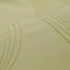 Chain CS - White (1) - Simple cream coloured lines embroidered on a similar cream coloured 100% Trevira CS fabric background