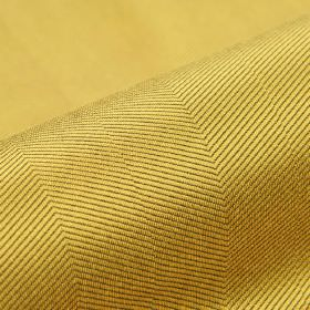 Vogue CS - Goud (9) - Fabric made from 100% Trevira CS in golden yellow, patterned with thin, subtle diagonal lines in a slightly darker sha