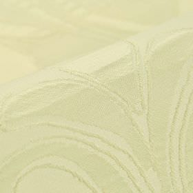 Indus - Cream (1) - Fabric made from 100% polyester with an incredibly subtle pattern in a very pale shade of yellow