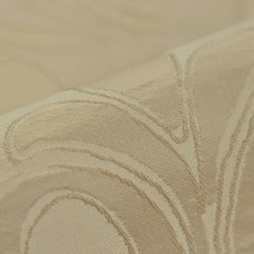 Indus - Pink (3) - 100% polyester fabric made with a subtle pattern of very simple leaves in a pale brown colour