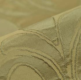 Indus - Taupe (4) - A very simple, subtle leaf design patterning fabric made entirely from polyester in two similar shades of olive green