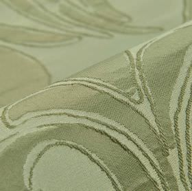 Indus - Grey (10) - Very simple leaves printed in light grey on 100% polyester fabric in an even paler shade of grey