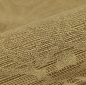 Lynx - Beige - Subtly patterned and striped fabric made from 100% polyester in dark shades of olive green