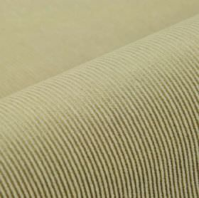 Orion - Beige - Pinstripe patterned cotton, polyester and viscose blend fabric, made in two different shades of green-grey