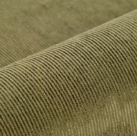 Orion - Brown - Dark green pinstripes alternating with thin light grey lines on fabric made from a blend of cotton, polyester and viscose