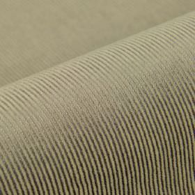 Orion - Beige Purple (5) - Two shades of grey making up a thin, simple pinstripe line pattern on cotton, polyester and viscose blend fabric