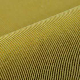 Orion - Yellow - Olive green and apple green coloured pinstripes alternating in a simple design on fabric made from various materials