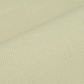 Breakline - White - Plain off-white coloured fabric made from a combination of linen and polyester