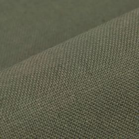 Breakline - Grey (11) - Dark grey and cream coloured threads woven together into a plain fabric containing linen and polyester