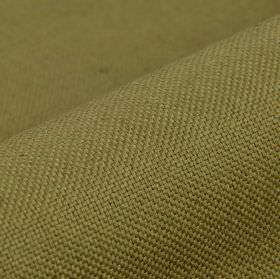 Breakline - Dark Brown - Fabric made from plain olive green coloured linen and polyester