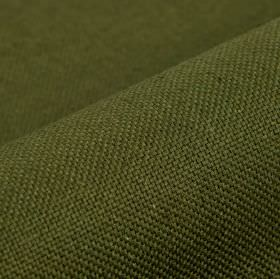 Breakline - Dark Green - Linen and polyester blended together into a plain fabric in a deep forest green colour