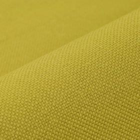 Breakline - Gold - Plain lime green coloured fabric made with a 50% linen and 50% polyester content