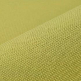 Breakline - Light Gold (27) - Unpatterned linen and polyester blended together into a light apple green coloured fabric