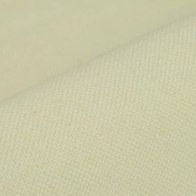 Break - White - Simple ivory coloured fabric made from a blend of linen and polyester