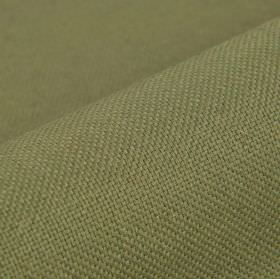 Break - Dark Beige - Linen and polyester blend fabric woven from threads in dark green-grey and cream colours