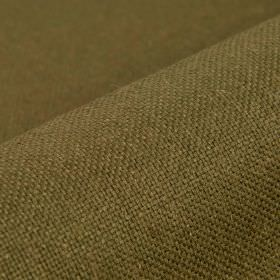 Break - Brown - Linen and polyester blended together into a dark Army green coloured fabric